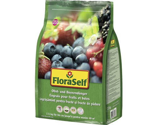 Ingrasamant pentru fructe si fructe de padure FloraSelf 2,5 kg