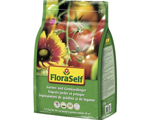Ingrasamant de gradina & pentru legume FloraSelf 2,5 kg