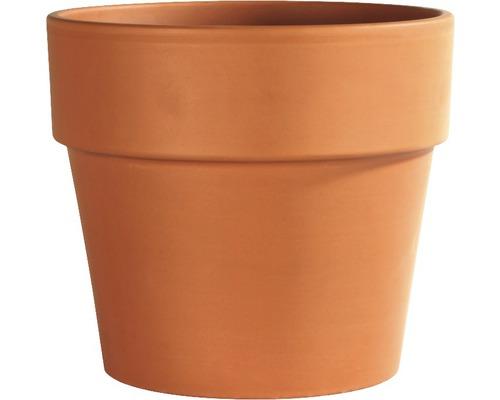 Ghiveci Spang, argila, Ø 24 cm, maro