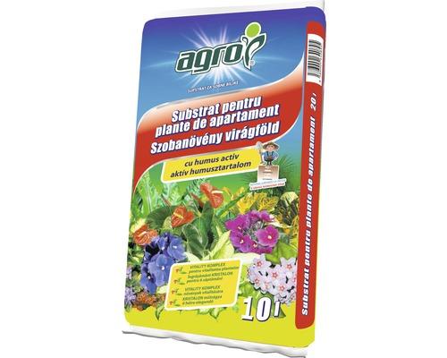 Pamant pentru plante de interior cu flori Agro 10 l