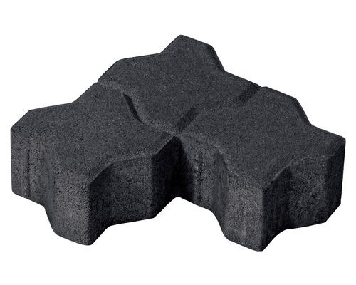 Pavaj Frunza F4 antracit 22x22,5x8 cm