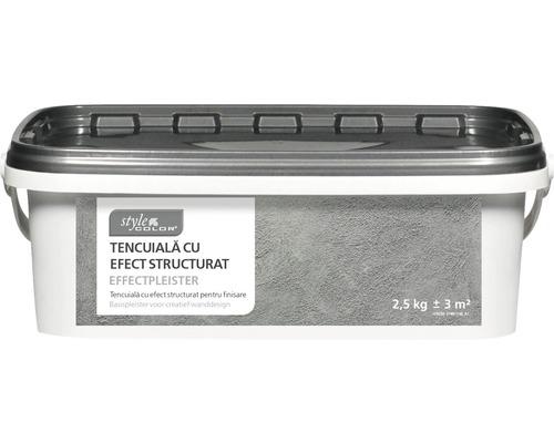 Tencuiala cu efect structurat StyleColor alba 2,5 kg