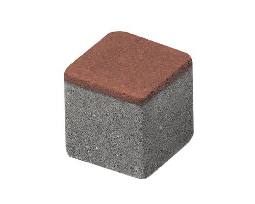 Pavaj cub delimitare grila rosu 8,4x8,4x8 cm