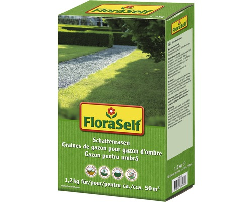 Seminte de gazon FloraSelf, gazon de umbra 1,2 kg 50 mp