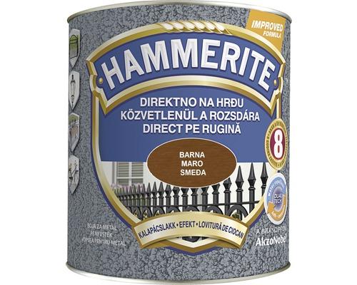 Email pentru metal Hammerite lovitură de ciocan, maro 2,5 l