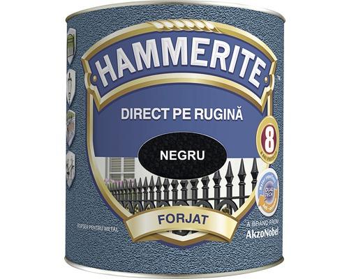 Email pentru metal Hammerite fier forjat, negru 2,5 l