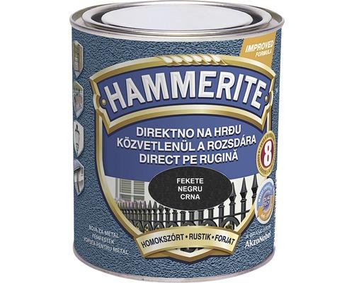 Email pentru metal Hammerite fier forjat, negru 0,75 l