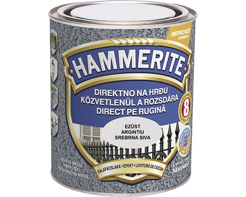 Email pentru metal Hammerite lovitura de ciocan, argintiu 0,75 l