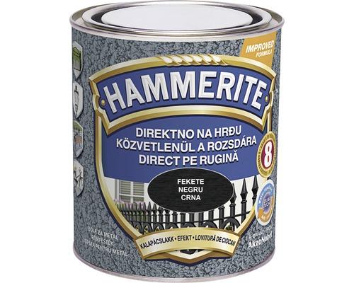 Email pentru metal Hammerite lovitura de ciocan, negru 0,75 l