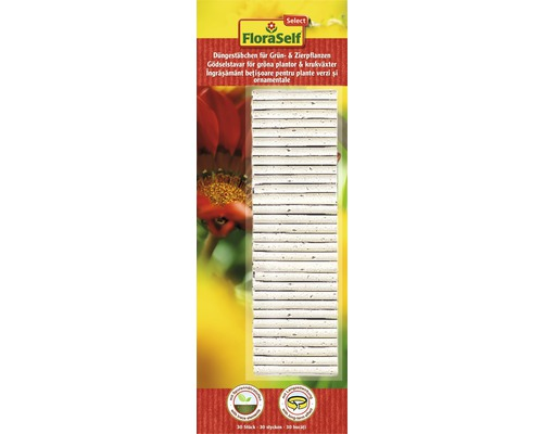 FloraSelf Select Îngrășământ baton plante verzi/ornamentale, 30 buc.
