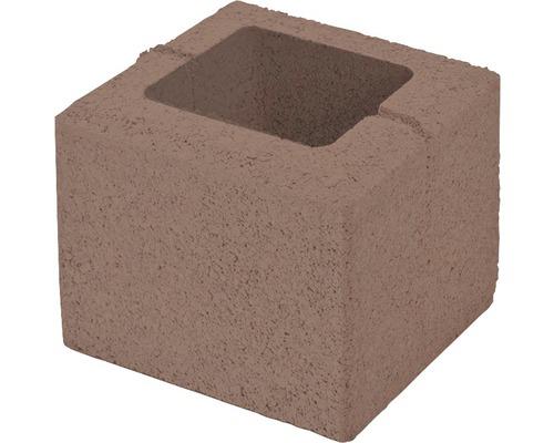 Bloc de zidarie Semmelrock Rivago pentru gard 20x20x16 cm maro