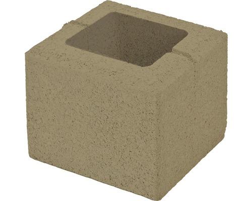 Bloc de zidarie Semmelrock Rivago pentru gard 20x20x16 cm bej