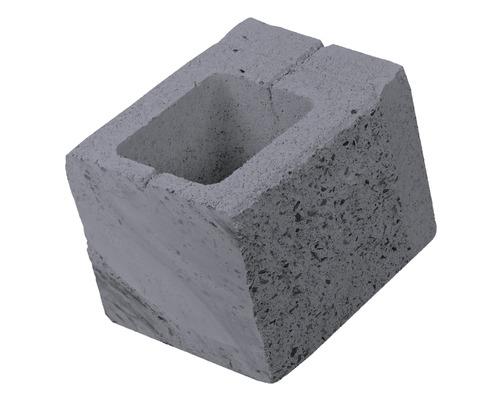 Element gard de jumatate antracit 24x20x18,5 cm