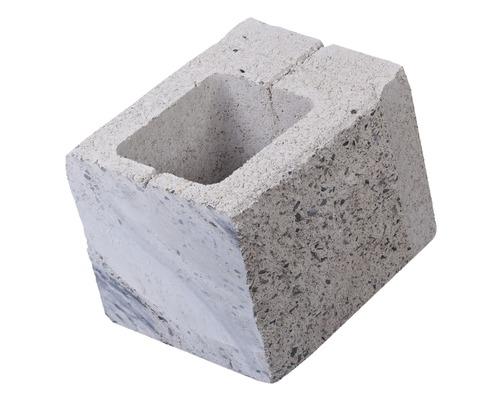 Element gard de jumatate crem 24x20x18,5 cm