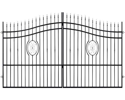 Poarta dublă Nedeia 180-200 x 400 cm, oțel galvanizat