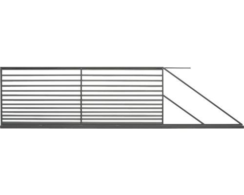 Poarta culisanta Tulisa din otel galvanizat, 400 x 150 cm, deschidere dreapta