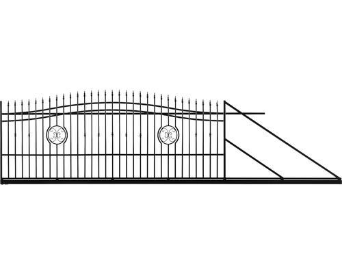 Poarta culisanta Nedeia din otel galvanizat, 180-200 x 400 cm, deschidere dreapta