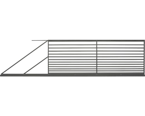 Poartă culisantă Tulisa din oțel galvanizat, 400 x 150 cm, deschidere stânga