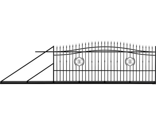 Poarta culisanta Nedeia din otel galvanizat, 180-200 x 400 cm, deschidere stanga