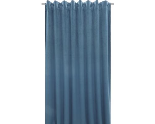 Draperie cu rejansă Velvet albastru 140x280 cm