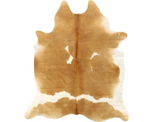 Piele de vacă maro-alb 200x150 cm