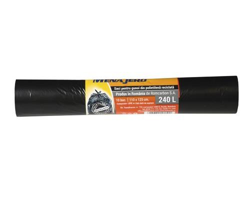 Saci menajeri Menajero 240L 110x125 cm, rola 10 bucati