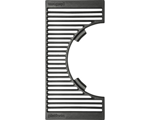 Placa de gratar semi-rotund Tennker Halo, 48 x 24 cm, fonta