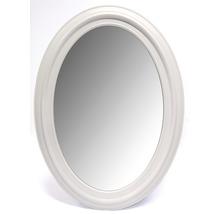 Oglindă ovală Lugano cu ramă albă 53x73 cm
