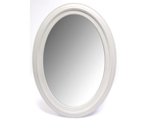 Oglinda ovala Lugano cu rama alba 53x73 cm
