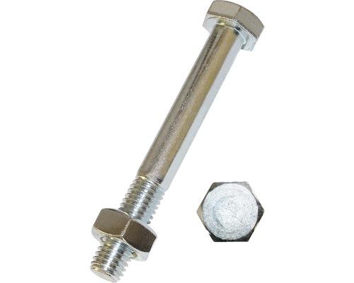 Suruburi metrice cu cap hexagonal si piulita Dresselhaus 12x240 mm otel zincat, 25 bucati