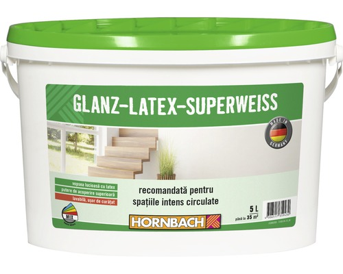 Vopsea pe baza de latex Glanzlatex Superweiss 5 l