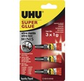 Adeziv instant UHU Super Glue mini 3x1 g