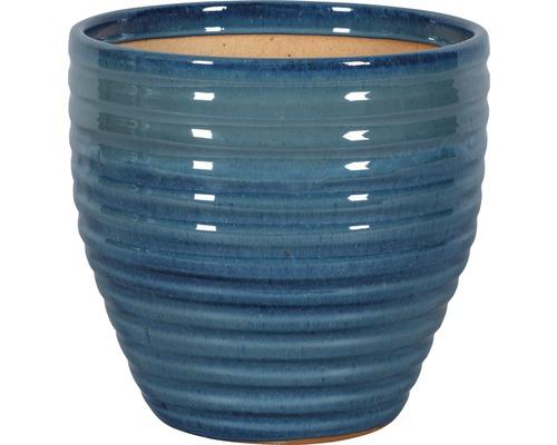 Ghiveci Corsica, Ø 27 cm, h 26 cm, albastru