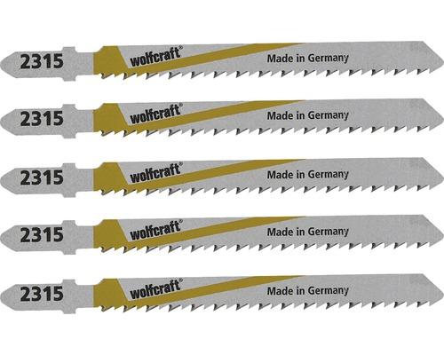 Panze fierastrau pendular Wolfcraft 100/75 mm, pentru lemn de terasa, pachet 5 bucati