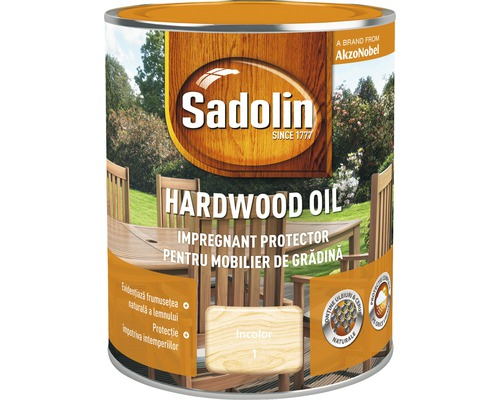 Impregnant pentru mobilierul de gradina Sadolin Hardwood Oil incolor 0,75 l