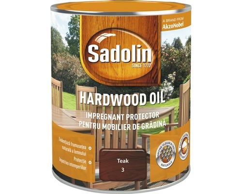 Impregnant pentru mobilierul de gradina Sadolin Hardwood Oil teak 0,75 l