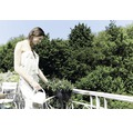 Set jardiniera elho Green Basics plastic, 70x26x17 cm, negru, inclusiv suport