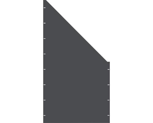 Element gard plin, 90 x 180 cm, antracit, deschidere dreapta oblic