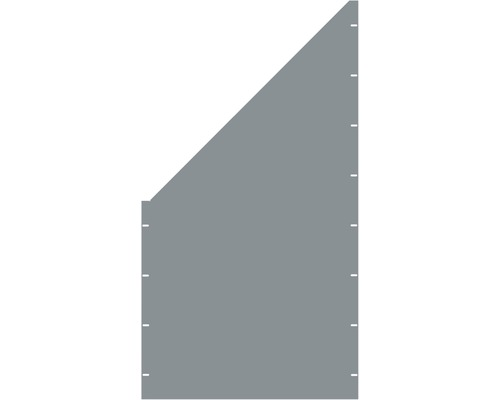 Element gard plin, 90 x 180 cm, gri, deschidere stanga oblic