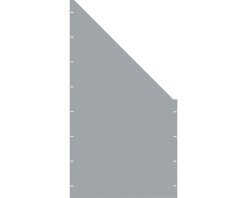 Element gard plin, 90 x 180 cm, gri, deschidere dreapta oblic