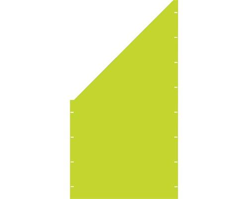 Element gard plin, 90 x 180 cm, verde, deschidere stanga oblic
