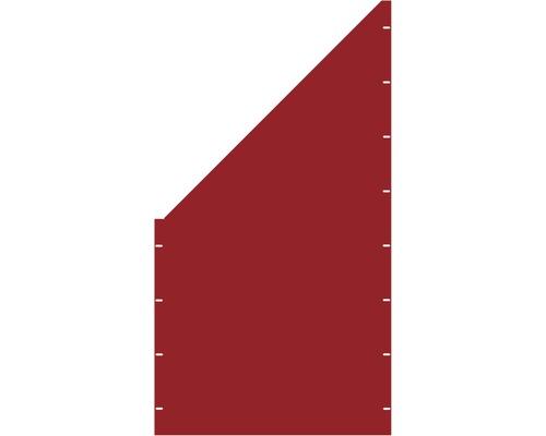 Element gard plin, 90 x 180 cm, rosu, deschidere stanga oblic