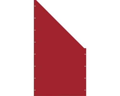 Element gard plin, 90 x 180 cm, rosu, deschidere dreapta oblic