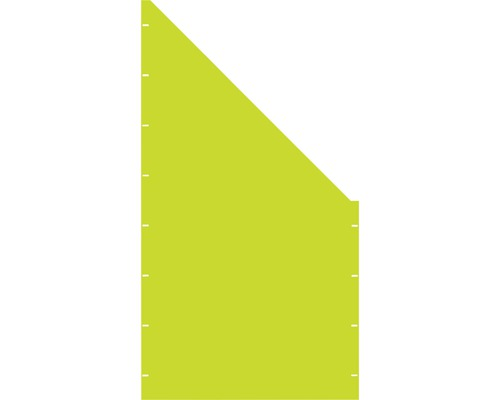 Element gard plin, 90 x 180 cm,verde, deschidere dreapta oblic