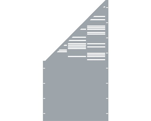 Element gard Stripes, 90 x 180cm, gri, deschidere stanga oblic