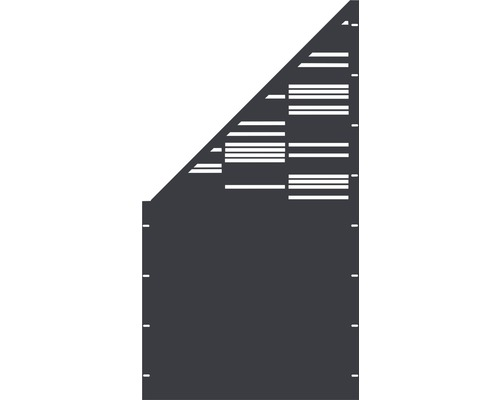 Element gard Stripes, 90 x 180 cm, antracit, deschidere stanga oblic
