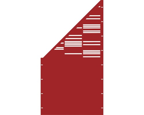 Element gard Stripes, 90 x 180 cm, rosu, deschidere stanga oblic