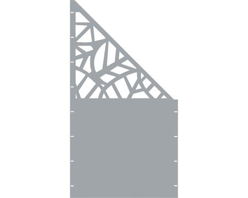 Element gard Palms, 90 x 180 cm, gri, deschidere dreapta oblic