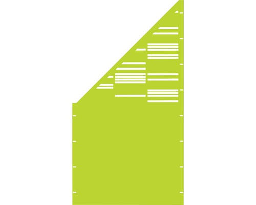 Element gard Stripes, 90 x 180 cm, verde, deschidere stanga oblic