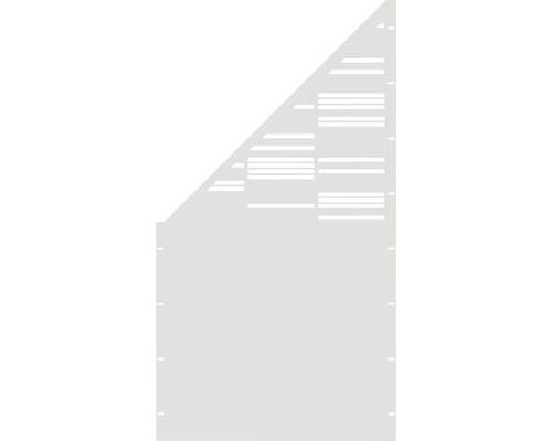 Element gard Stripes, 90 x 180 cm, alb, deschidere stanga oblic